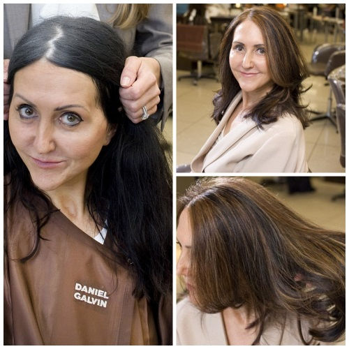 Балаяж седых волос